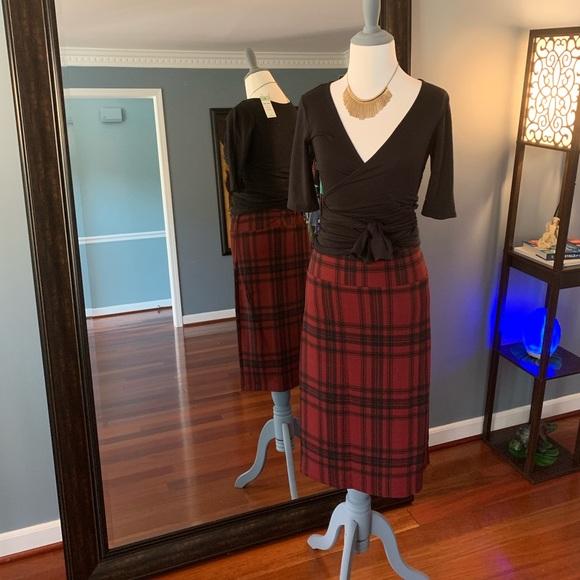 Agnes & Dora Dresses & Skirts - Pencil Skirt - Red Plaid